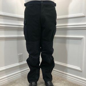 Cabelas L Fleece Pants Hunting Outdoors Black D6